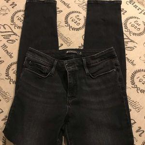Athleta black skinny jeans size 8